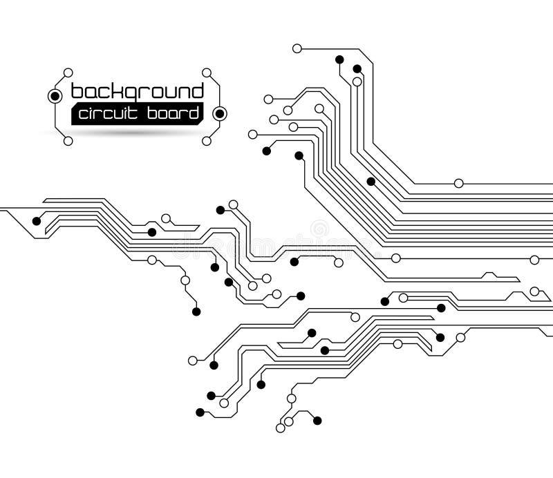 αφηρημένο κύκλωμα χαρτονιώ διανυσματική απεικόνιση