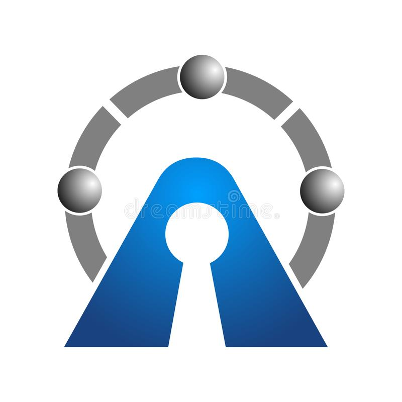 Αφηρημένο λογότυπο για την επιχειρησιακή επιχείρηση Εταιρικό σχέδιο EL ταυτότητας απεικόνιση αποθεμάτων