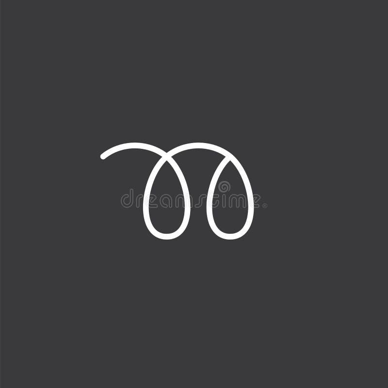 Αφηρημένο λογότυπο γραμμάτων Ν διανυσματική απεικόνιση