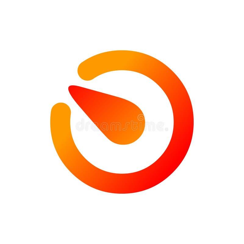 αφηρημένο λογότυπο Διανυσματική απεικόνιση εικονιδίων λογότυπων κύκλων ελεύθερη απεικόνιση δικαιώματος