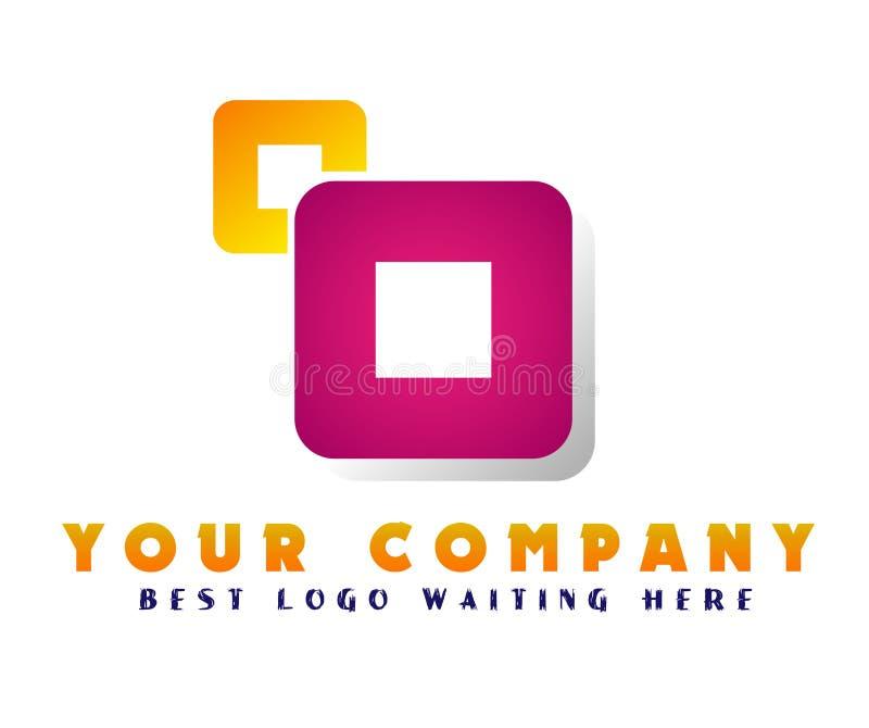 Αφηρημένο λογότυπο επιχειρησιακής επιχείρησης Εταιρικό στοιχείο σχεδίου ταυτότητας Εστίαση καμερών, κέντρο πλαισίων, διανομή στο  ελεύθερη απεικόνιση δικαιώματος