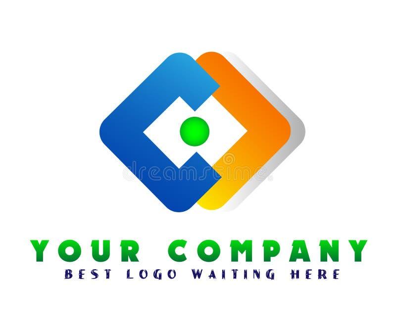 Αφηρημένο λογότυπο επιχειρησιακής επιχείρησης, εταιρικό στοιχείο σχεδίου ταυτότητας Εστίαση καμερών, κέντρο πλαισίων, διανομή στο διανυσματική απεικόνιση