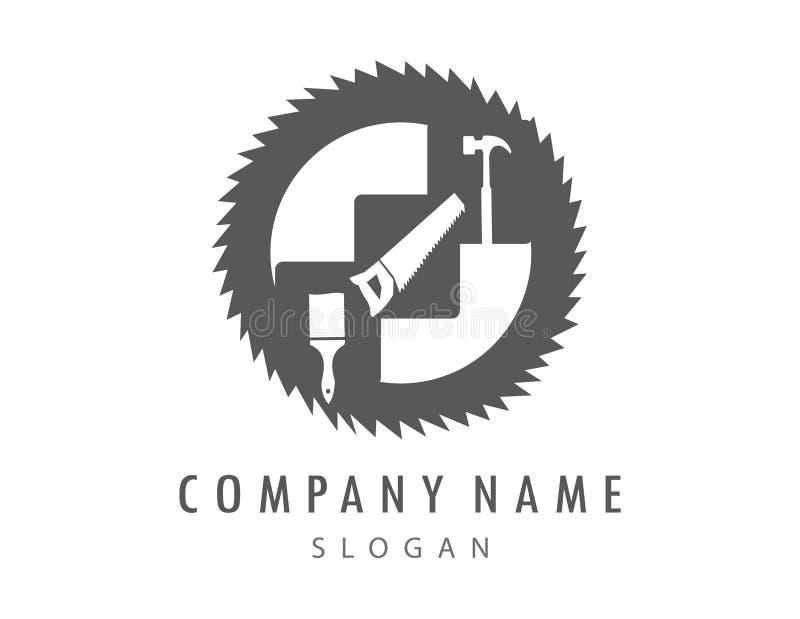 Αφηρημένο λογότυπο εργαλείων σε ένα άσπρο υπόβαθρο διανυσματική απεικόνιση