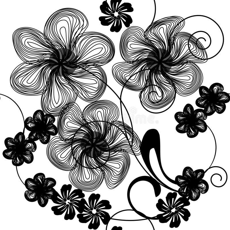 αφηρημένο λουλούδι ανασ& διανυσματική απεικόνιση