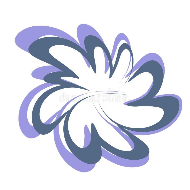 αφηρημένο λουλούδι σχε&delt διανυσματική απεικόνιση