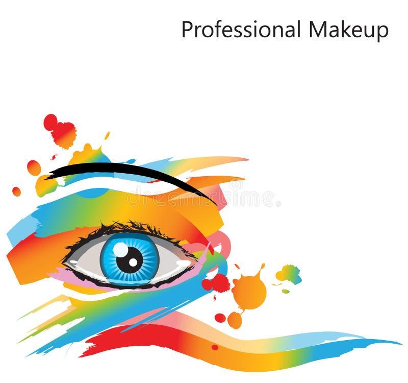 αφηρημένο μάτι makeup ελεύθερη απεικόνιση δικαιώματος