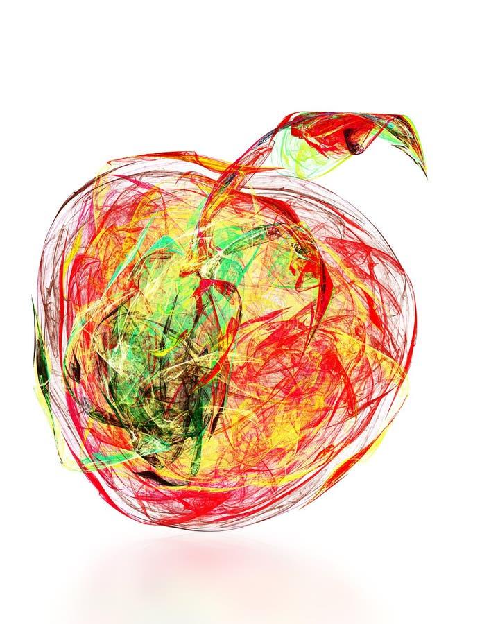 Αφηρημένο μήλο διανυσματική απεικόνιση