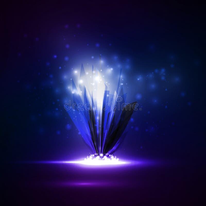 Αφηρημένο μαγικό κρύσταλλο ελεύθερη απεικόνιση δικαιώματος