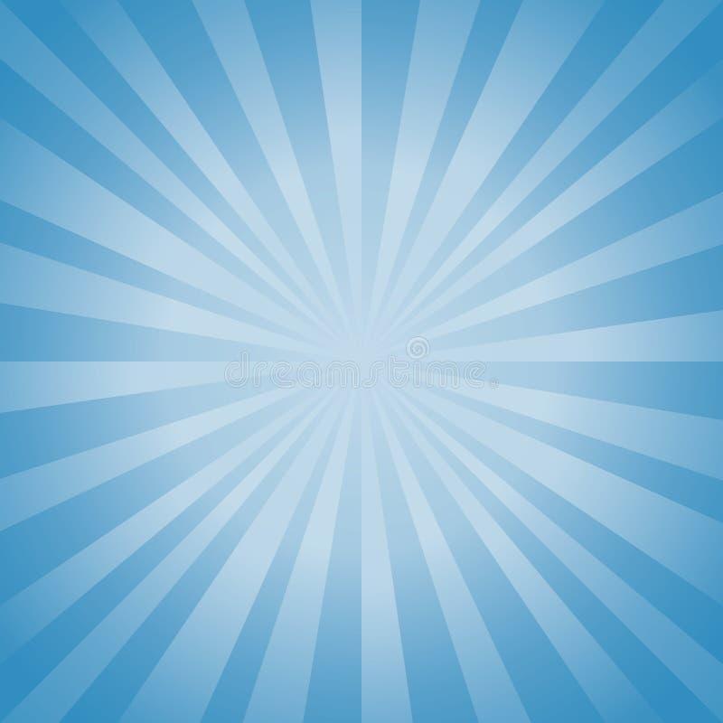 Αφηρημένο μαλακό μπλε υπόβαθρο ακτίνων Διανυσματικό EPS 10, cmyk διανυσματική απεικόνιση