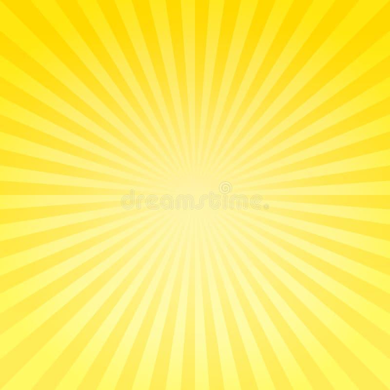Αφηρημένο μαλακό φωτεινό κίτρινο υπόβαθρο ακτίνων κλίσης Διανυσματικό EPS 10, cmyk ελεύθερη απεικόνιση δικαιώματος