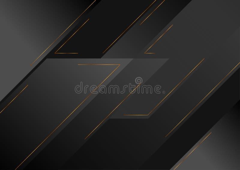 Αφηρημένο μαύρο γεωμετρικό διανυσματικό υπόβαθρο τεχνολογίας απεικόνιση αποθεμάτων