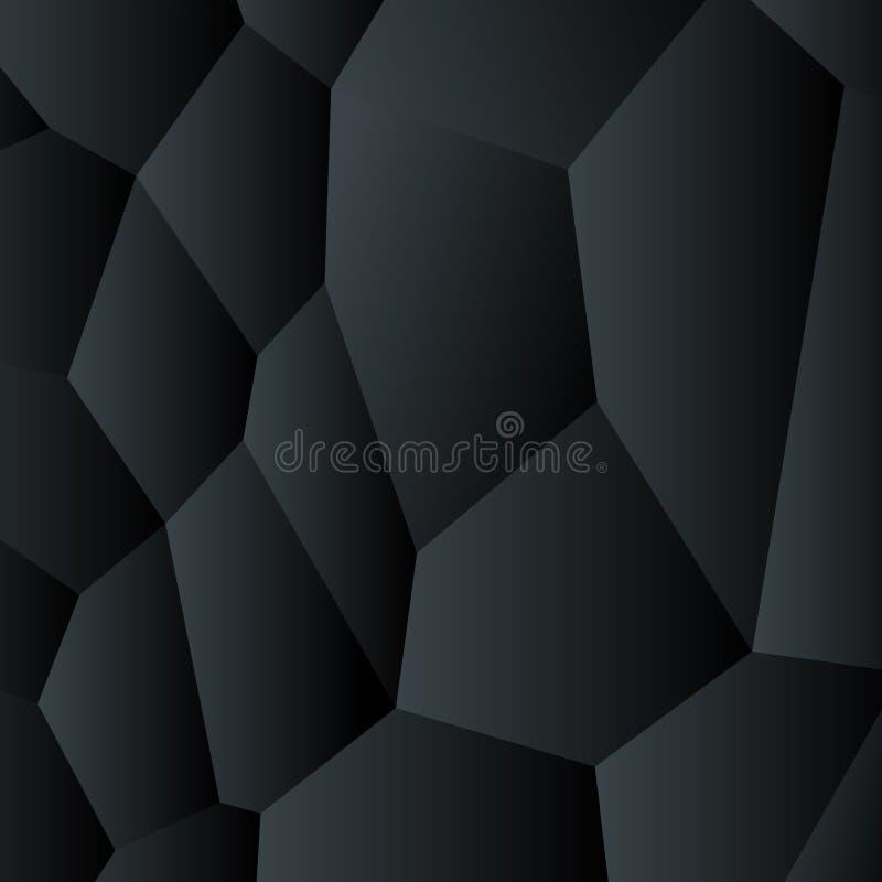 Αφηρημένο μαύρο διανυσματικό δημιουργικό σχέδιο υποβάθρου.  ελεύθερη απεικόνιση δικαιώματος