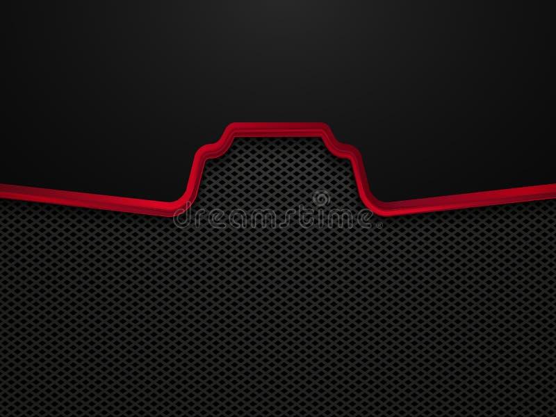 Αφηρημένο μαύρο και κόκκινο σχέδιο έννοιας τεχνολογίας Διανυσματικό υπόβαθρο προτύπων απεικόνιση αποθεμάτων