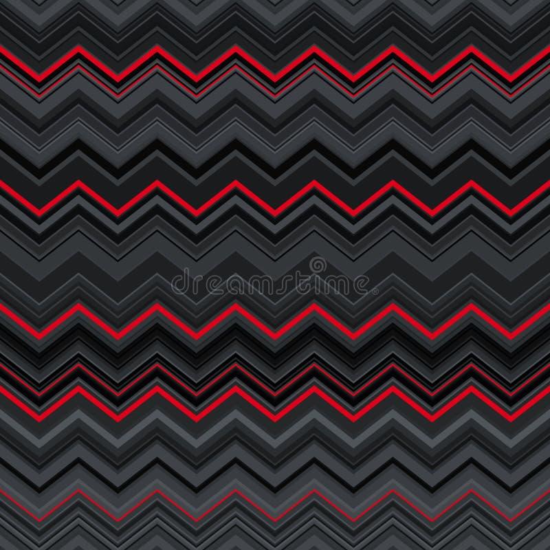 Αφηρημένο μαύρο, κόκκινο και γκρίζο τρέκλισμα που στρεβλώνεται διανυσματική απεικόνιση