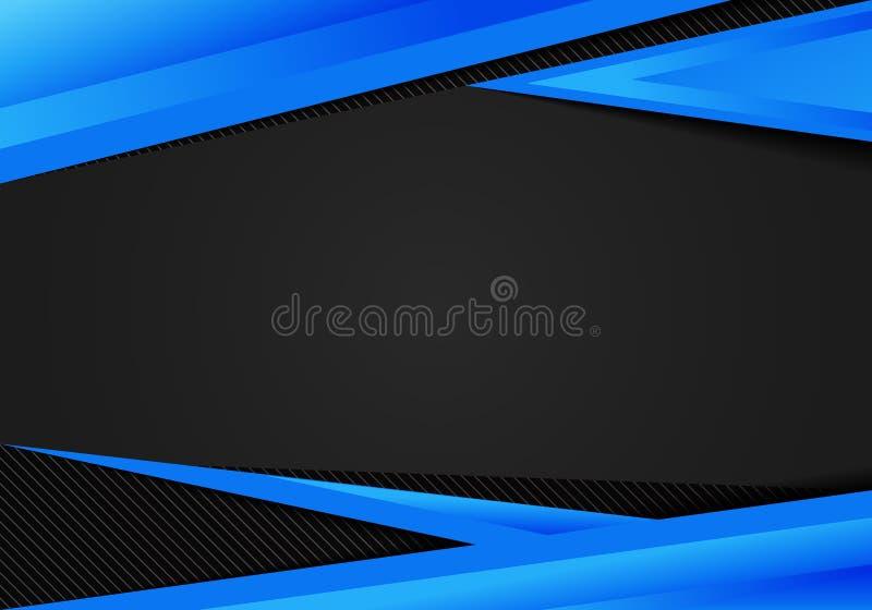 Αφηρημένο μαύρο υπόβαθρο αντίθεσης τριγώνων προτύπων μπλε γεωμετρικό Μπορείτε να χρησιμοποιήσετε για το εταιρικό σχέδιο, φυλλάδιο απεικόνιση αποθεμάτων