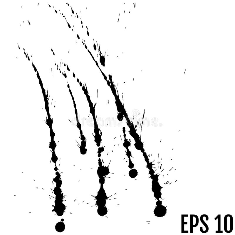Αφηρημένο μαύρο υπόβαθρο παφλασμών χρωμάτων watercolor μαύρο waterco απεικόνιση αποθεμάτων
