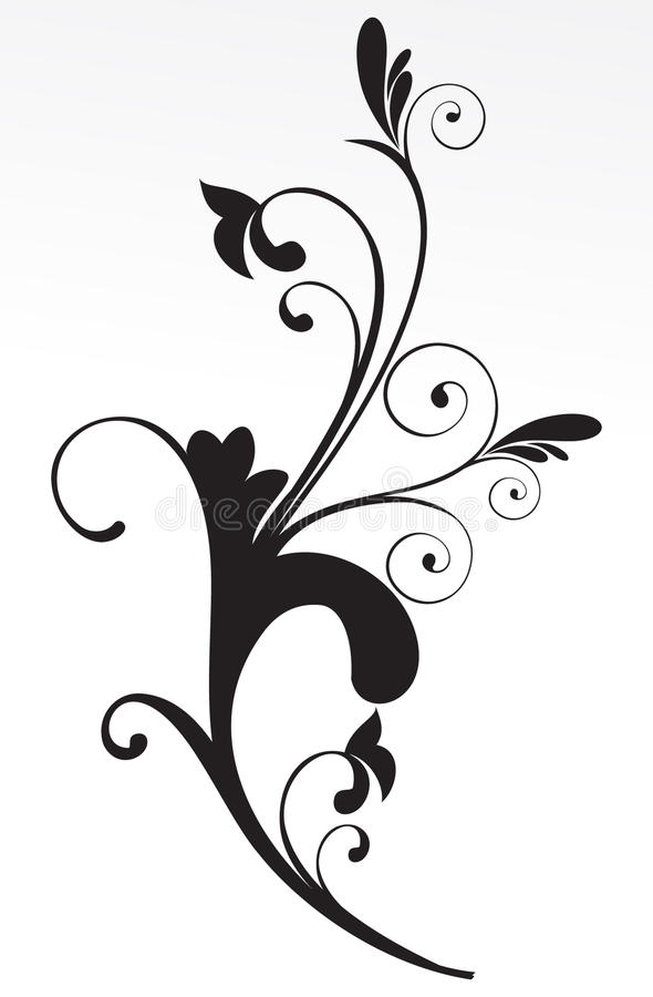 αφηρημένο μαύρο floral λευκό αν&alp ελεύθερη απεικόνιση δικαιώματος