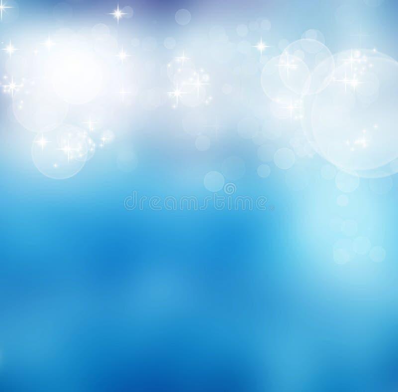 Αφηρημένο μαλακό μουτζουρωμένο υπόβαθρο με τα φω'τα και τα αστέρια bokeh ελεύθερη απεικόνιση δικαιώματος