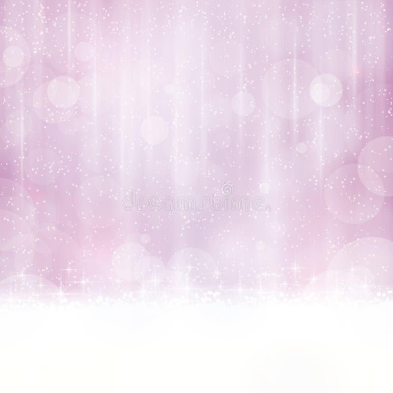Αφηρημένο μαλακό πορφυρό υπόβαθρο με τα μουτζουρωμένα φω'τα απεικόνιση αποθεμάτων