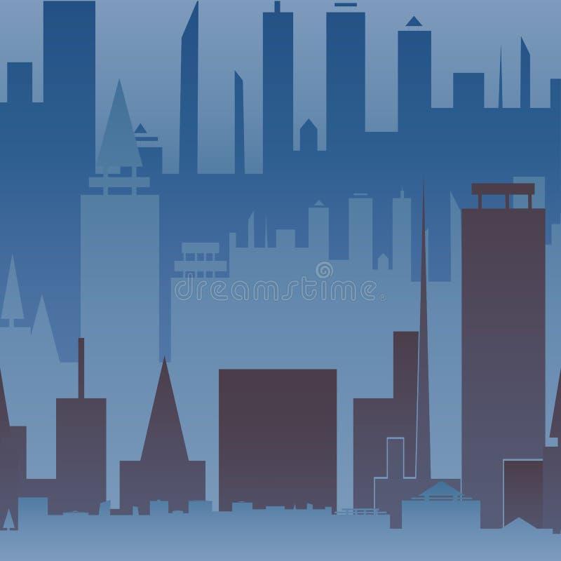 Αφηρημένο μεγάλο άνευ ραφής σχέδιο πόλεων Αστική τυπωμένη ύλη ελεύθερη απεικόνιση δικαιώματος