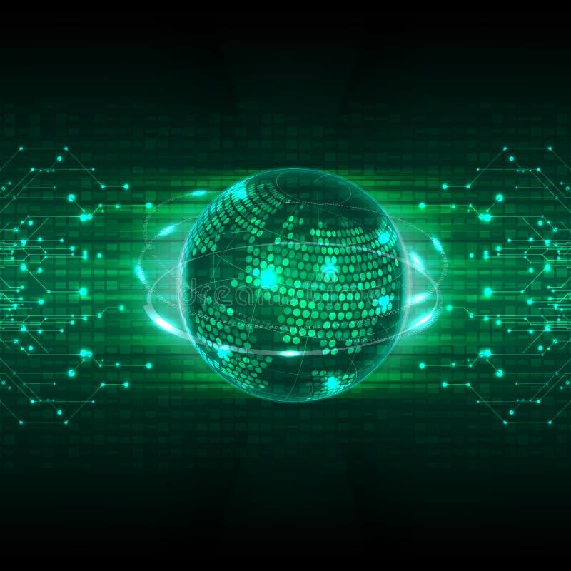 Αφηρημένο μελλοντικό υπόβαθρο έννοιας τεχνολογίας ελεύθερη απεικόνιση δικαιώματος