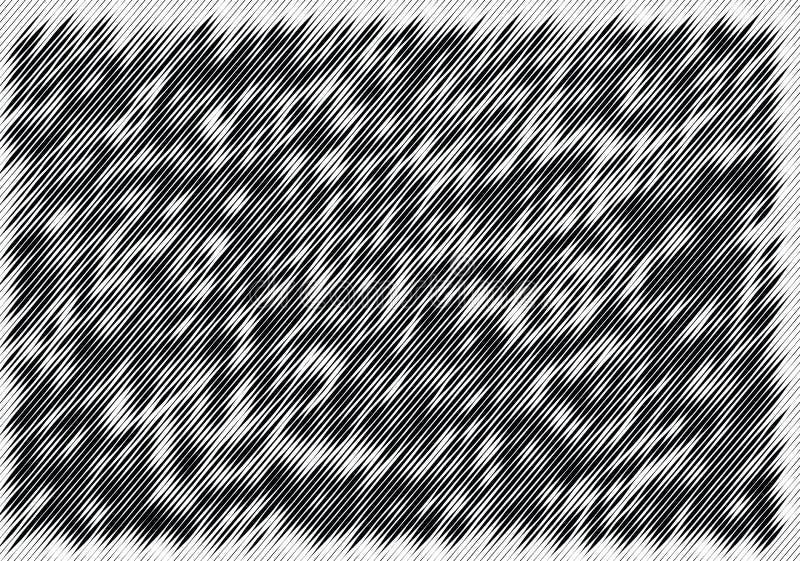 Αφηρημένο μονοχρωματικό σχέδιο, grunge, ημίτοή επίδραση, ανώμαλος, που αλλάζει το πάχος των γραμμών ελεύθερη απεικόνιση δικαιώματος