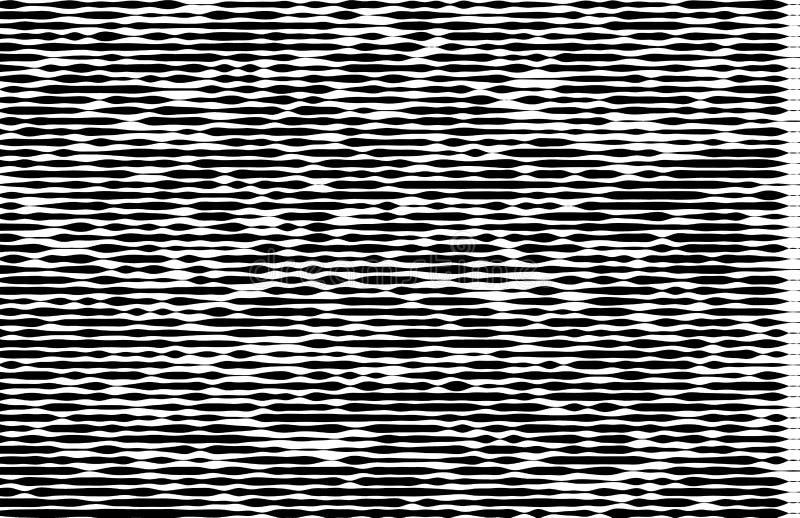 Αφηρημένο μονοχρωματικό σχέδιο, grunge, ημίτοή επίδραση, ανώμαλος, που αλλάζει το πάχος των γραμμών διανυσματική απεικόνιση