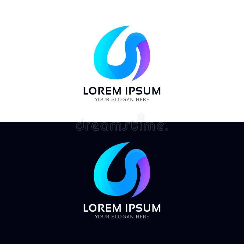 Αφηρημένο μορφής εικονιδίων λογότυπο των σημάτων επιχείρησης διανυσματικό tempate απεικόνιση αποθεμάτων