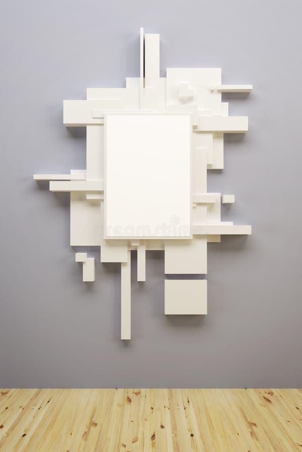 αφηρημένο μουσείο σύνθεσης τέχνης απεικόνιση αποθεμάτων