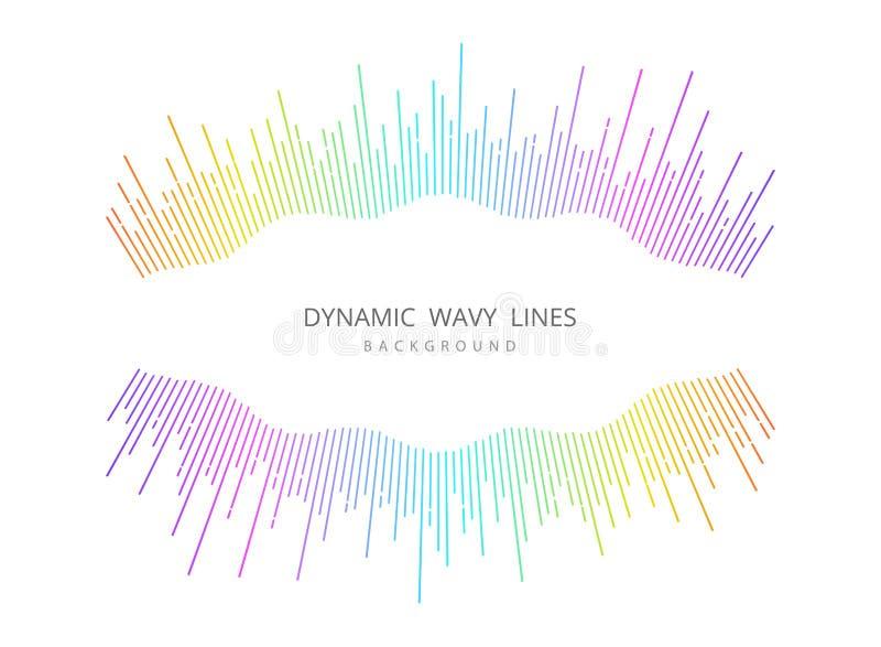 Αφηρημένο μουσικό κυματιστό φόντο σχεδίασης με πολύχρωμο σχέδιο εξωφύλλου διάνυσμα απεικόνισης eps10 ελεύθερη απεικόνιση δικαιώματος
