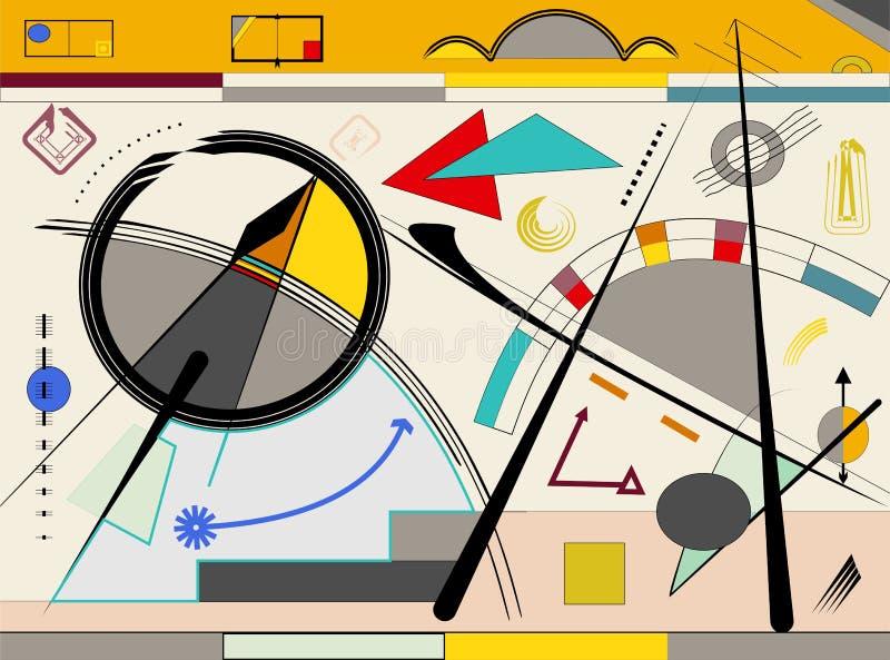 Αφηρημένο μπεζ υπόβαθρο, expressionism ύφος -18-106 τέχνης διανυσματική απεικόνιση