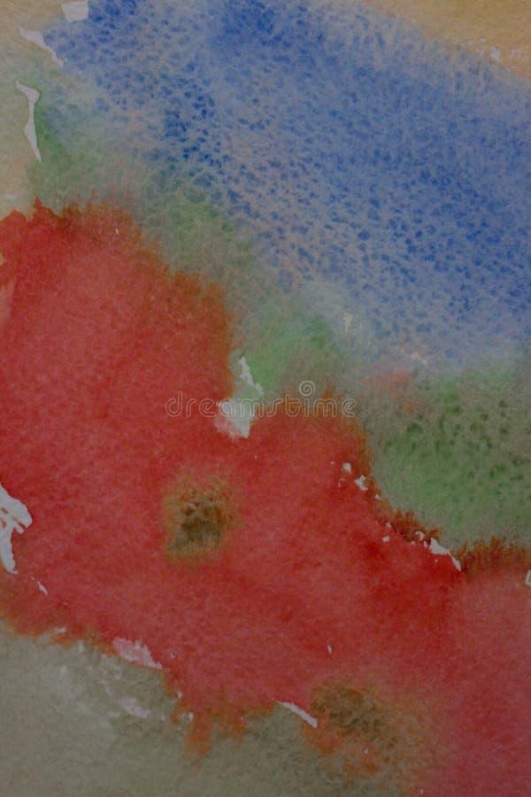 αφηρημένο μπλε ανασκόπησης που γίνεται το μόνο watercolor στοκ εικόνα