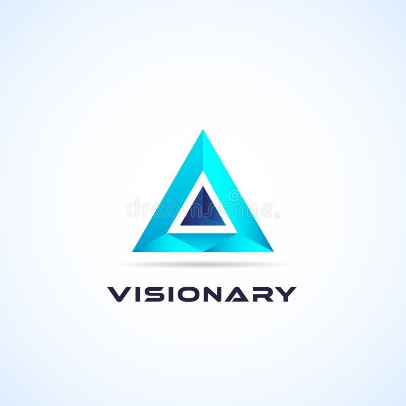 Αφηρημένο μπλε γεωμετρικό εικονίδιο συμβόλων σημαδιών λογότυπων τριγώνων απεικόνιση αποθεμάτων