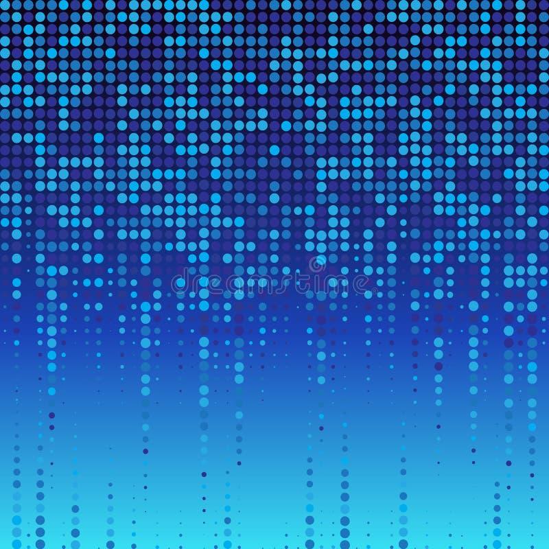 Αφηρημένο μπλε διαστιγμένο υπόβαθρο ημίτονος επίσης corel σύρετε το διάνυσμα απεικόνισης απεικόνιση αποθεμάτων