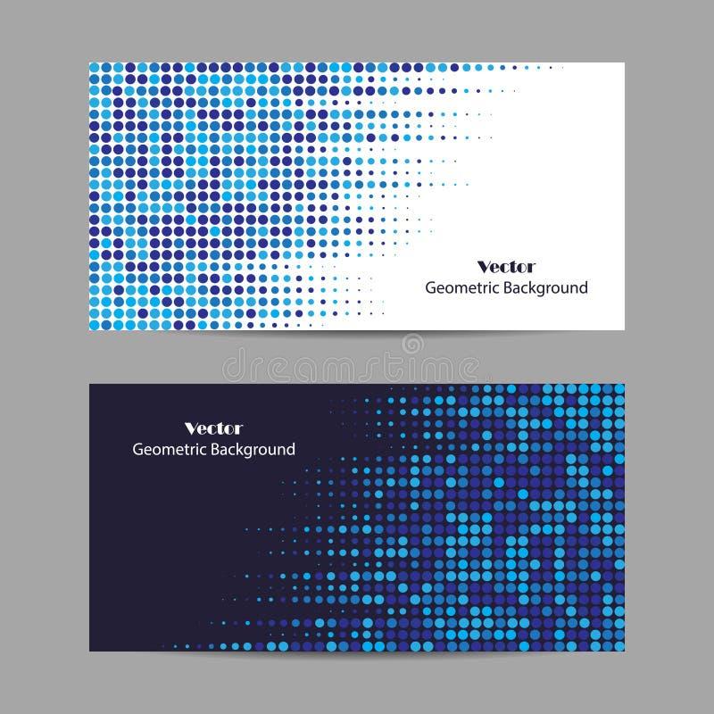 Αφηρημένο μπλε διαστιγμένο υπόβαθρο ημίτονος επίσης corel σύρετε το διάνυσμα απεικόνισης ελεύθερη απεικόνιση δικαιώματος