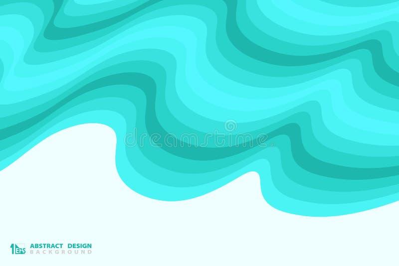 Αφηρημένο μπλε κυματιστό υπόβαθρο διακοσμήσεων σχεδίου σχεδίων θάλασσας r ελεύθερη απεικόνιση δικαιώματος