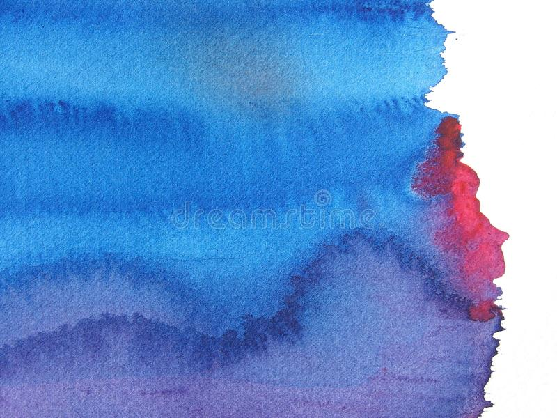 αφηρημένο μπλε κόκκινο watercolor &alph διανυσματική απεικόνιση
