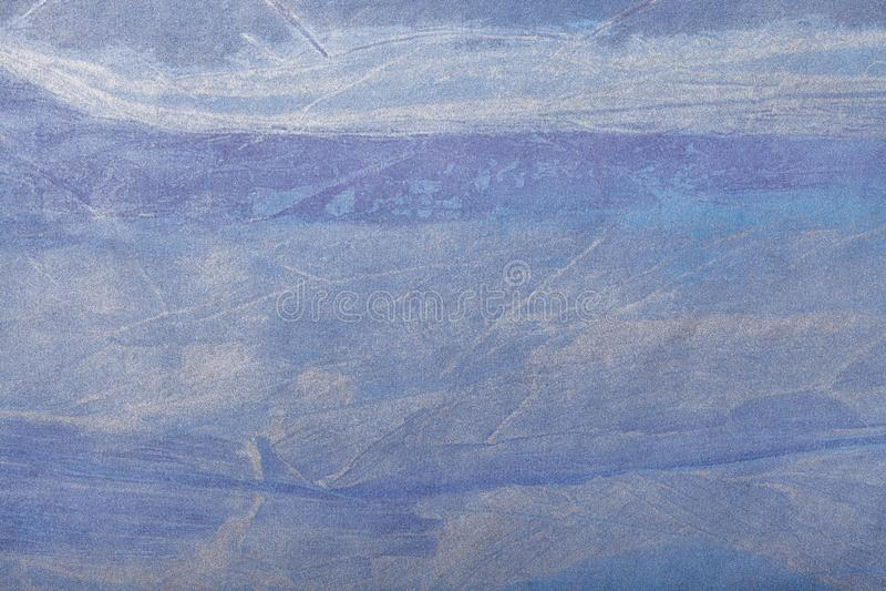 Αφηρημένο μπλε ναυτικό και ασημένιο χρώμα υποβάθρου τέχνης Πολύχρωμη ζωγραφική στον καμβά Τεμάχιο του έργου τέχνης σκηνικό σύστασ στοκ φωτογραφία με δικαίωμα ελεύθερης χρήσης