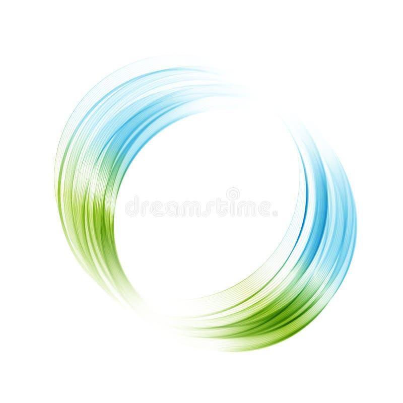 Αφηρημένο μπλε, πράσινο φωτεινό υπόβαθρο κύκλων στροβίλου Διανυσματική απεικόνιση για σας σύγχρονο σχέδιο Στρογγυλό πλαίσιο ή έμβ ελεύθερη απεικόνιση δικαιώματος
