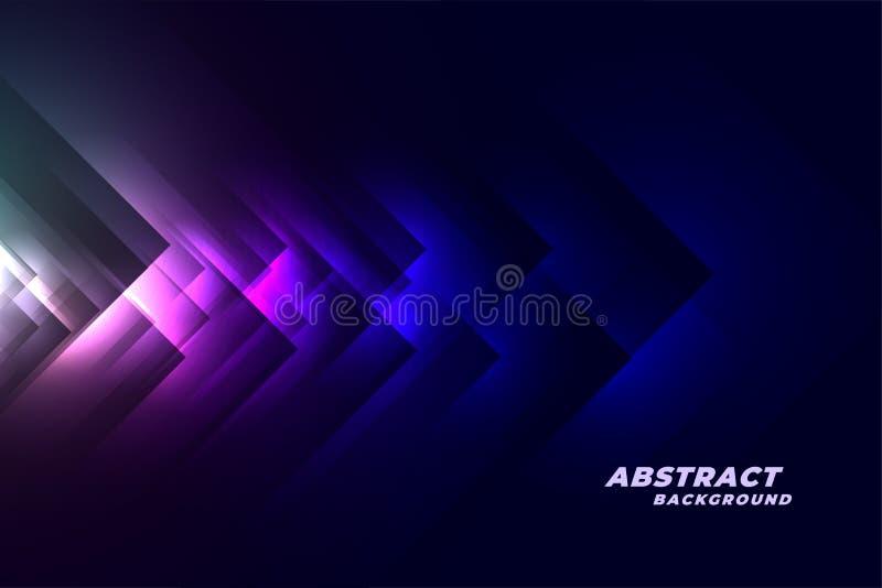 Αφηρημένο μπλε σκοτεινό υπόβαθρο ύφους τεχνολογίας διανυσματική απεικόνιση