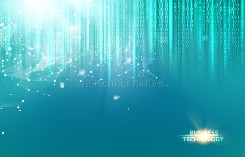 Αφηρημένο μπλε σχέδιο επιστήμης απεικόνιση αποθεμάτων