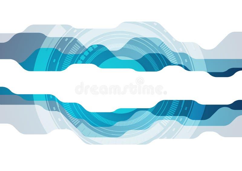 Αφηρημένο μπλε σύγχρονο υπόβαθρο τεχνολογίας διανυσματική απεικόνιση