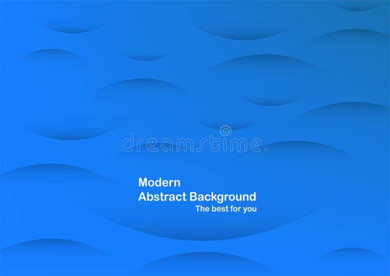 Αφηρημένο μπλε υπόβαθρο καμπυλών με το διάστημα αντιγράφων για το άσπρο κείμενο Μ διανυσματική απεικόνιση