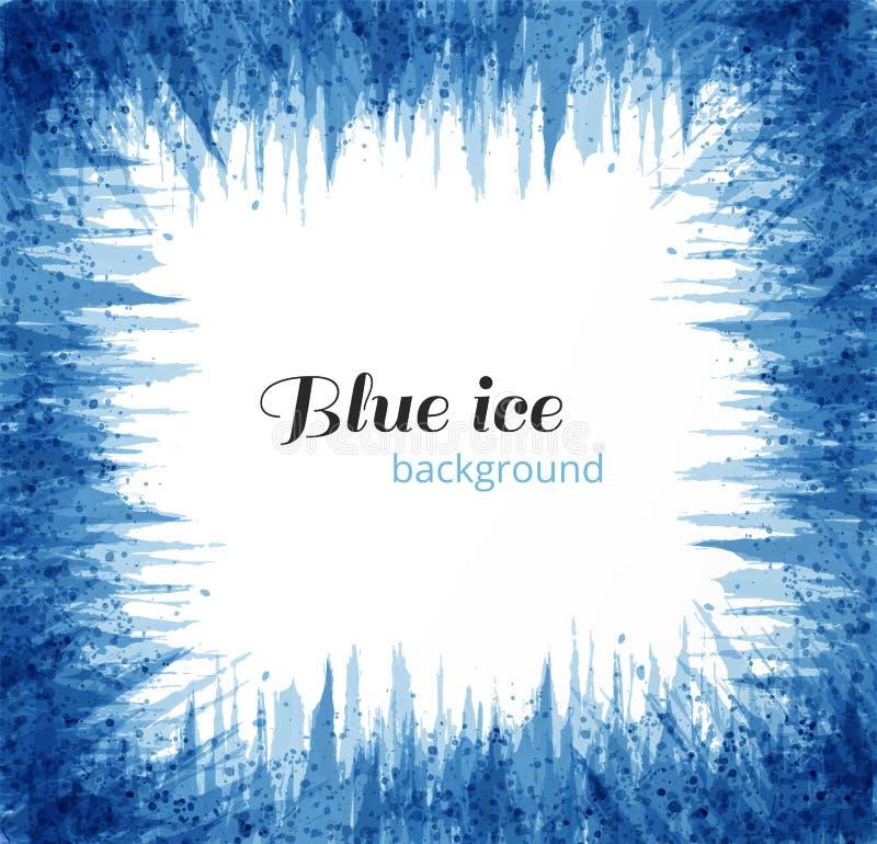 Αφηρημένο μπλε υπόβαθρο grunge με τη θέση για το κείμενό σας Μπλε πάγος στο άσπρο υπόβαθρο επίσης corel σύρετε το διάνυσμα απεικό απεικόνιση αποθεμάτων