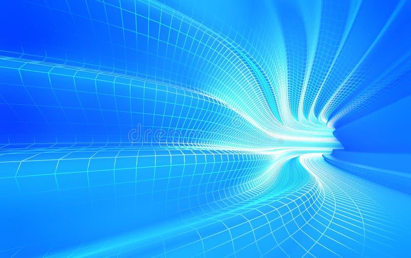 αφηρημένο μπλε φαράγγι baclground ελεύθερη απεικόνιση δικαιώματος