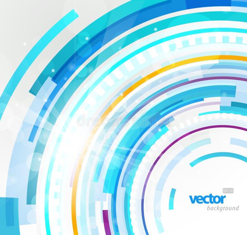 αφηρημένο μπλε φουτουρι διανυσματική απεικόνιση