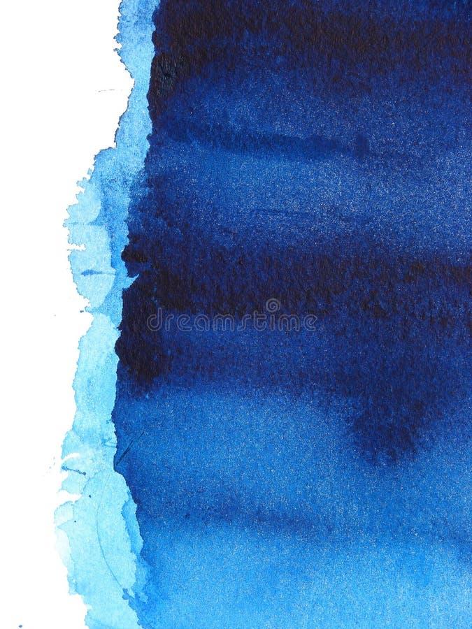 αφηρημένο μπλε watercolor ανασκόπη&sigm διανυσματική απεικόνιση