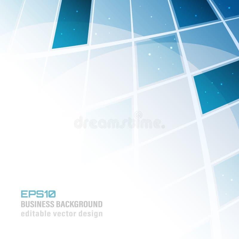 Αφηρημένο μπλε επιχειρησιακό υπόβαθρο κεραμιδιών με τη θέση για το περιεχόμενό σας διανυσματική απεικόνιση