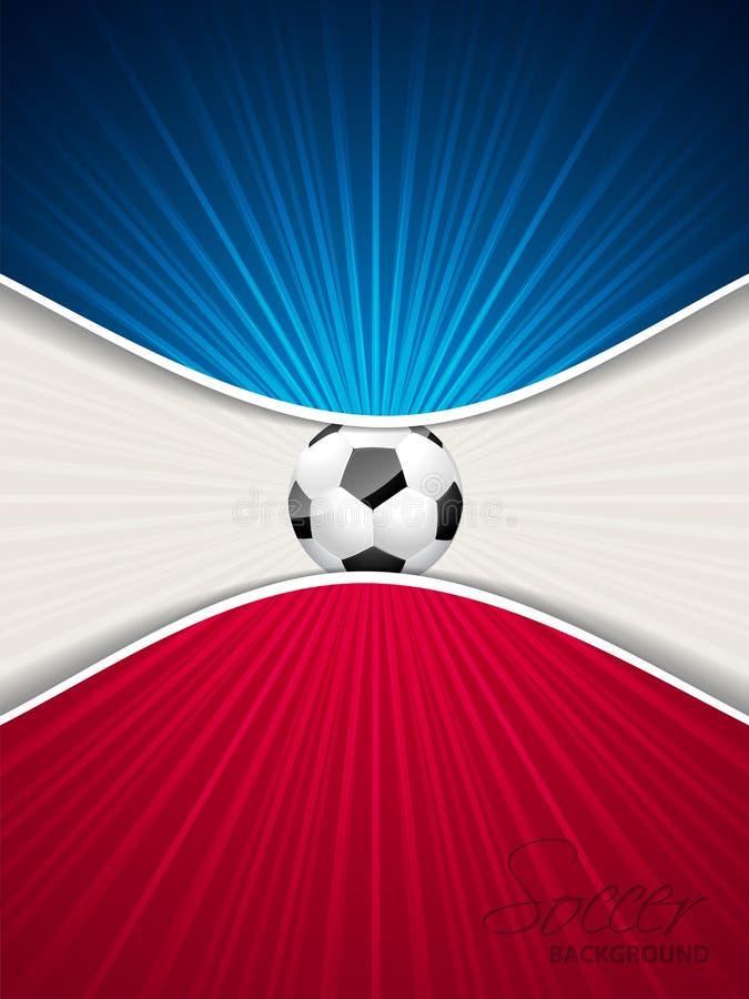 Αφηρημένο μπλε κόκκινο φυλλάδιο ποδοσφαίρου διανυσματική απεικόνιση