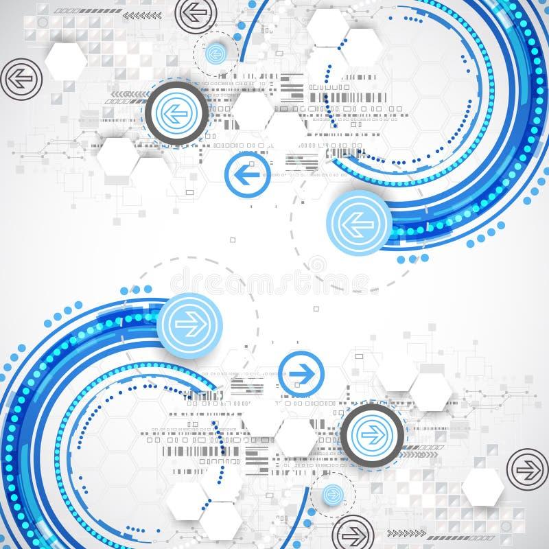 Αφηρημένο μπλε υπόβαθρο επιχειρησιακής επιστήμης ή τεχνολογίας διανυσματική απεικόνιση
